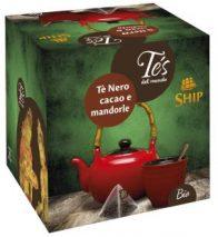 BIO - Scatola 15 filtri piramidi Tè Nero Cacao e Mandorle BIO